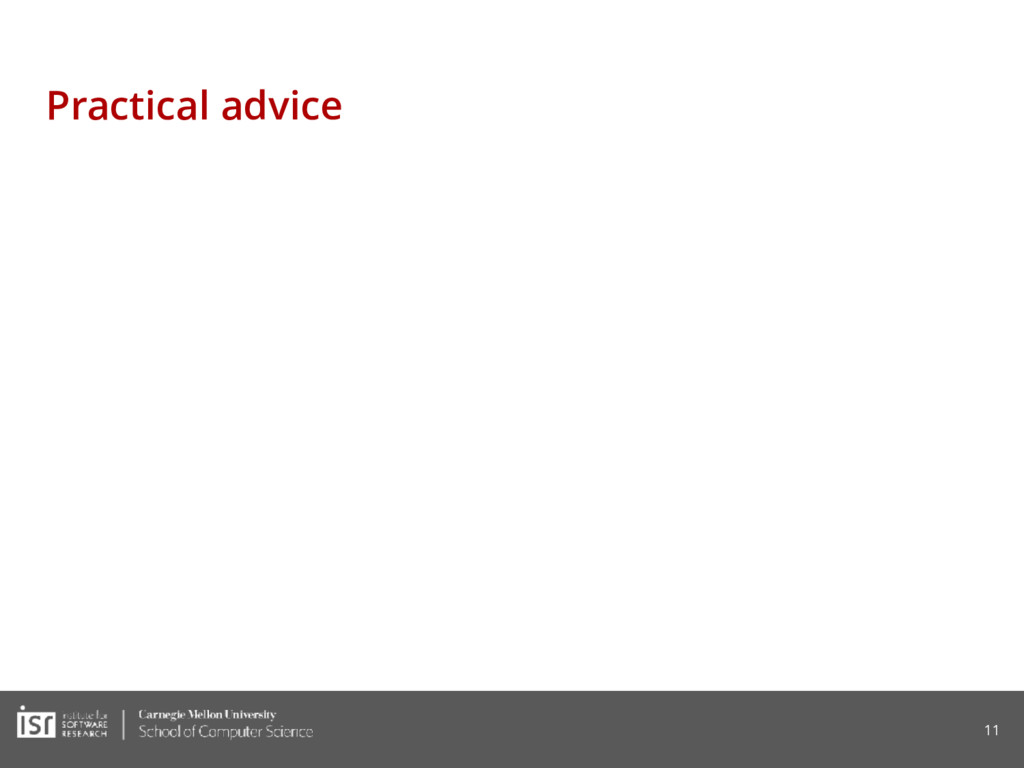 Practical advice 11