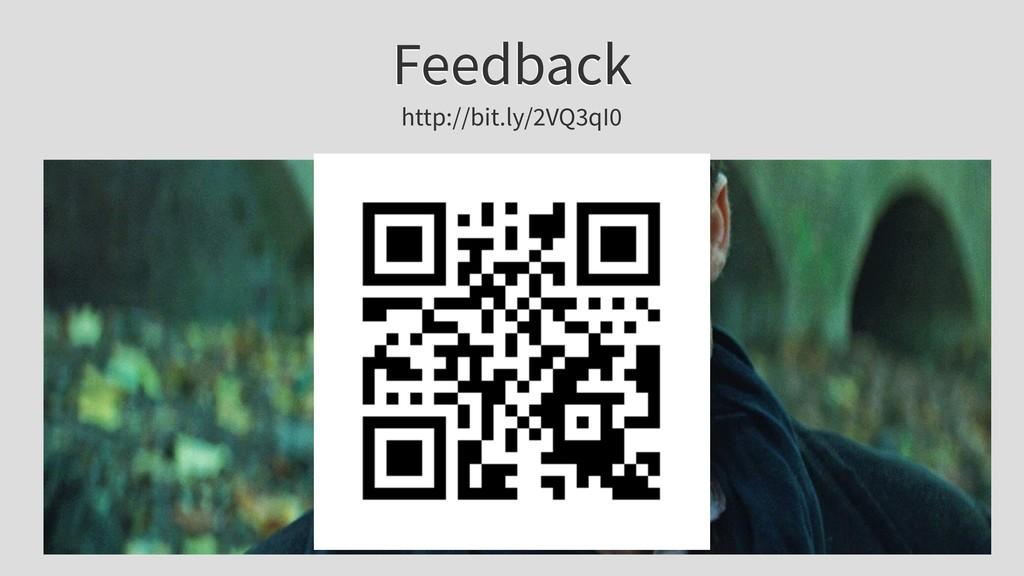 Feedback http://bit.ly/2VQ3qI0