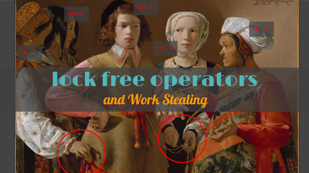 lock free operators and Work Stealing cpu 1 cpu...