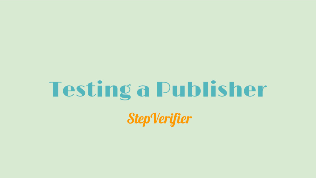 Testing a Publisher StepVerifier
