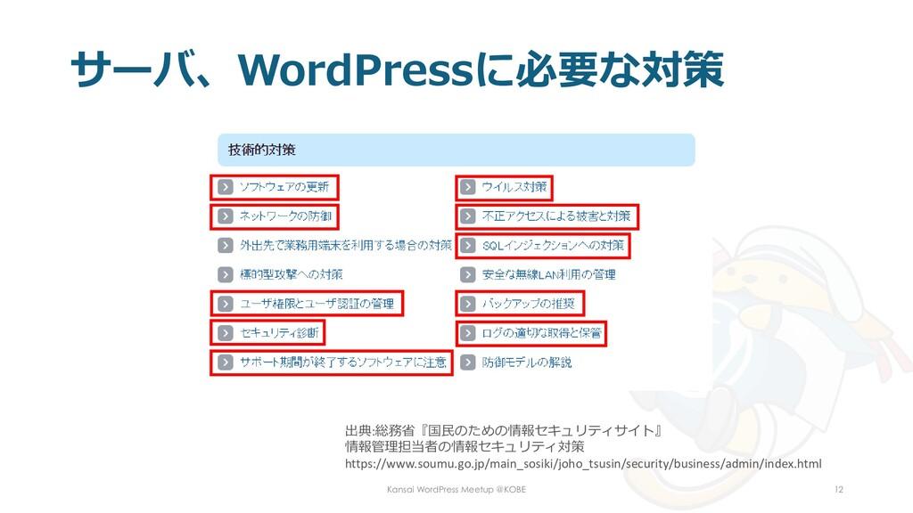 サーバ、WordPressに必要な対策 Kansai WordPress Meetup @KO...