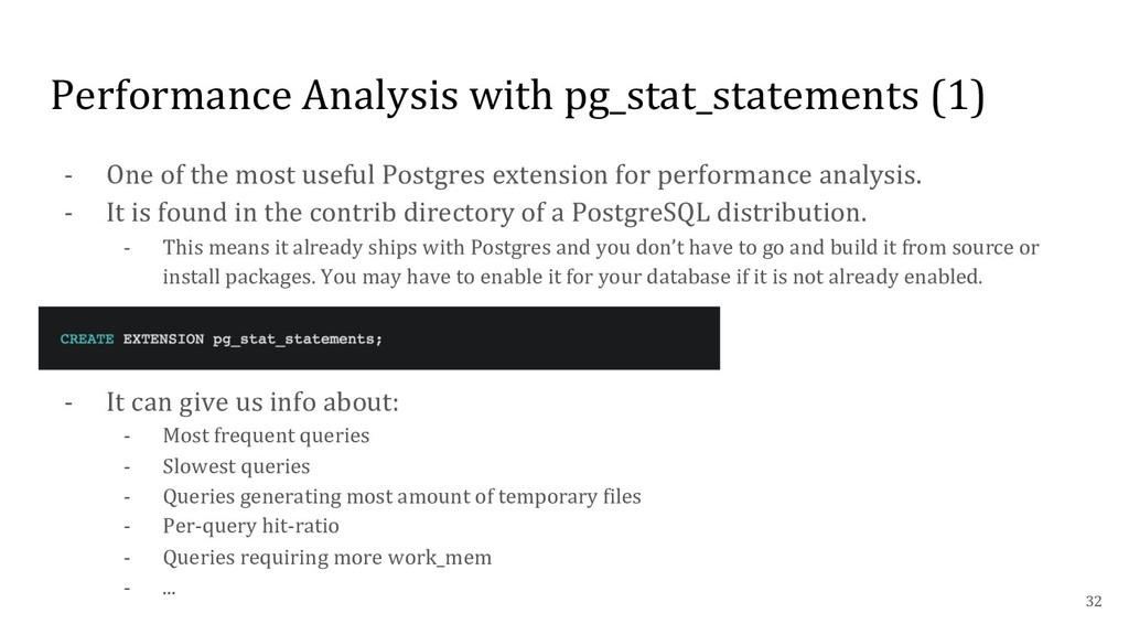 Performance Analysis with pg_stat_statements (1...