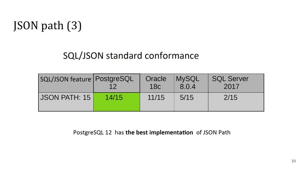 JSON path (3) 10