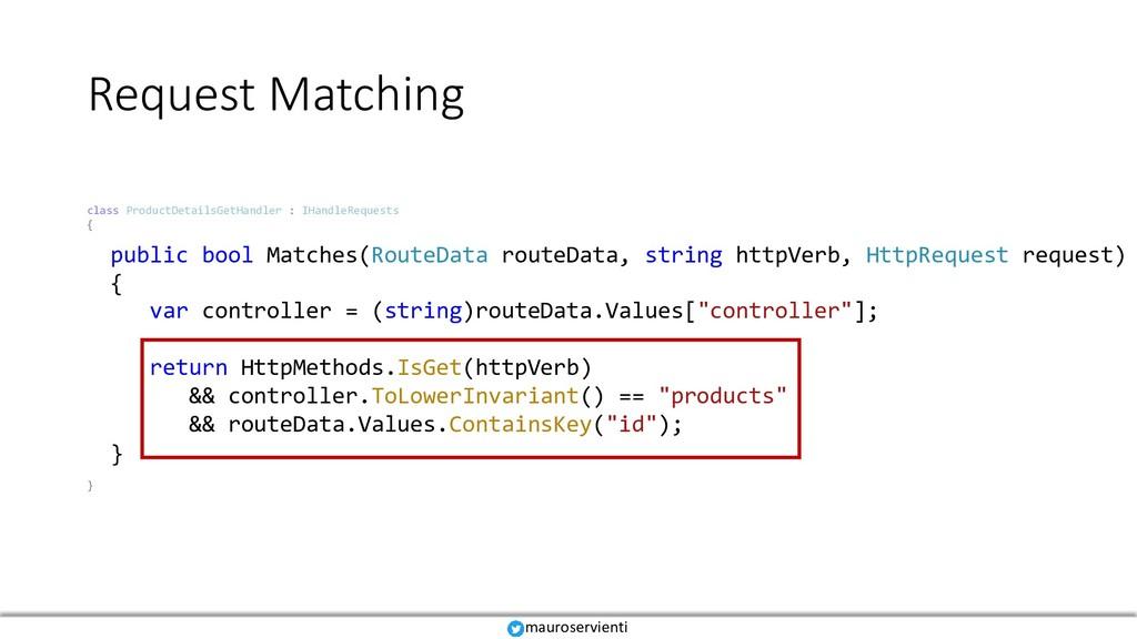 Request Matching mauroservienti class ProductDe...
