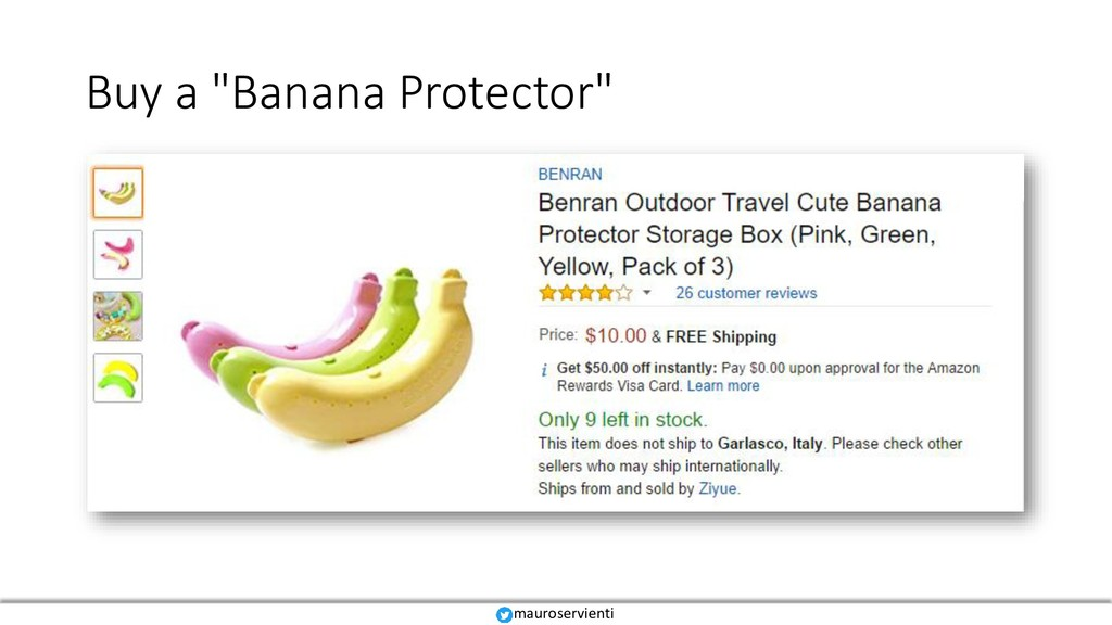 "Buy a ""Banana Protector"" mauroservienti"
