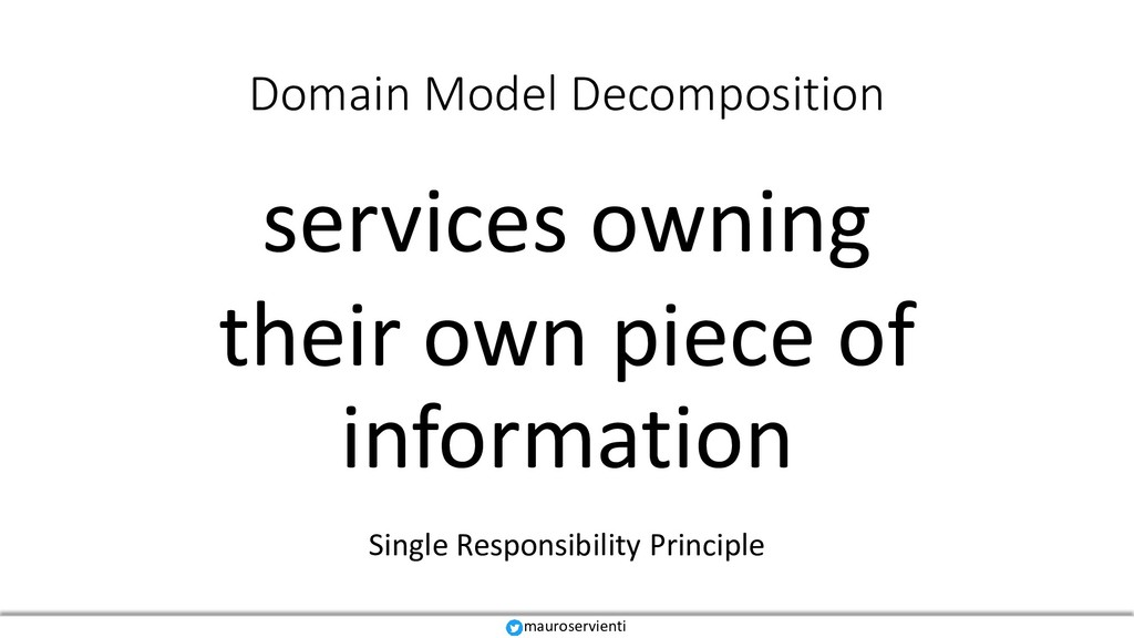 Domain Model Decomposition services owning thei...