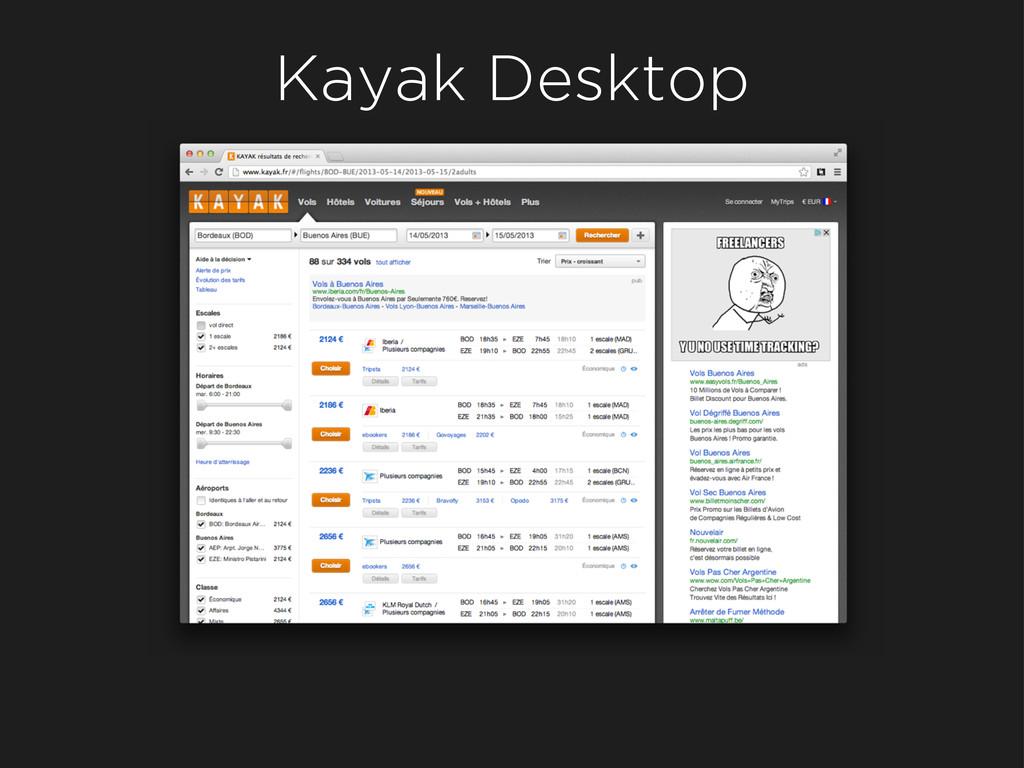 Kayak Desktop
