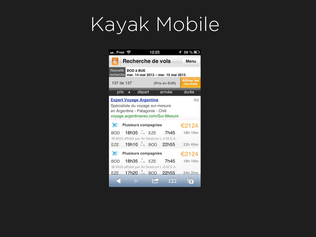 Kayak Mobile