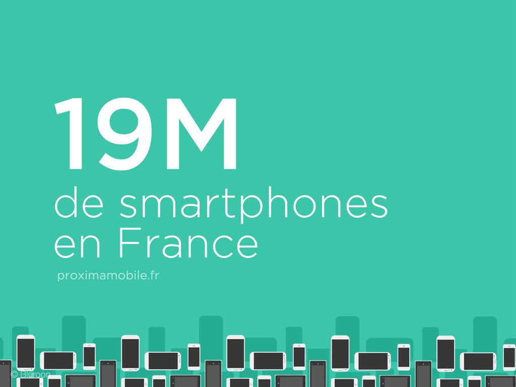 de smartphones en France proximamobile.fr 19M ©...