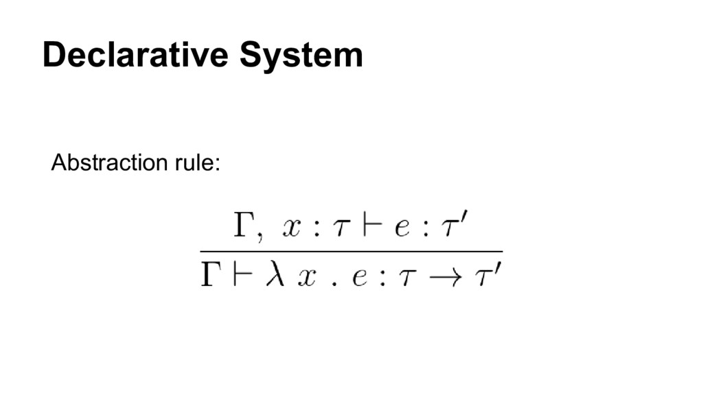 Declarative System Abstraction rule: