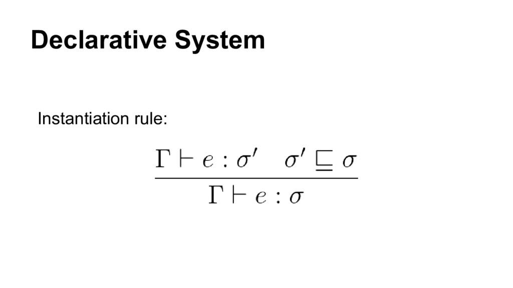 Declarative System Instantiation rule: