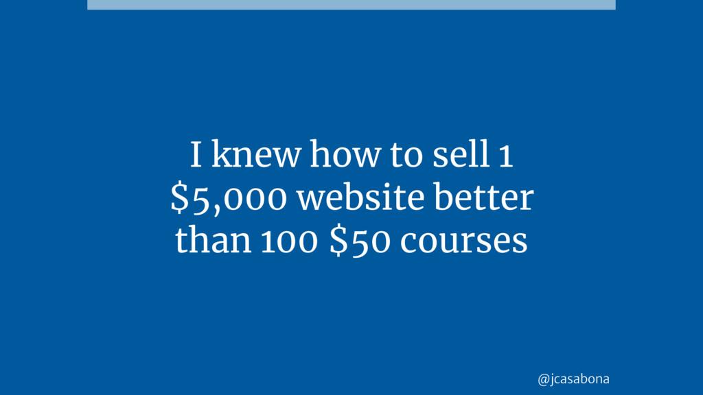 @jcasabona I knew how to sell 1 $5,000 website ...