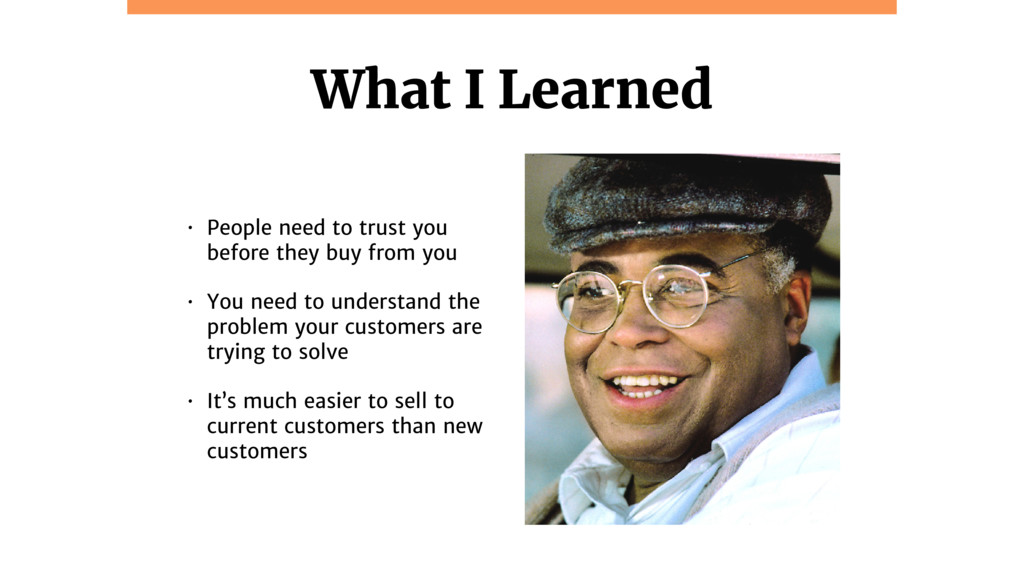 @jcasabona What I Learned • People need to trus...