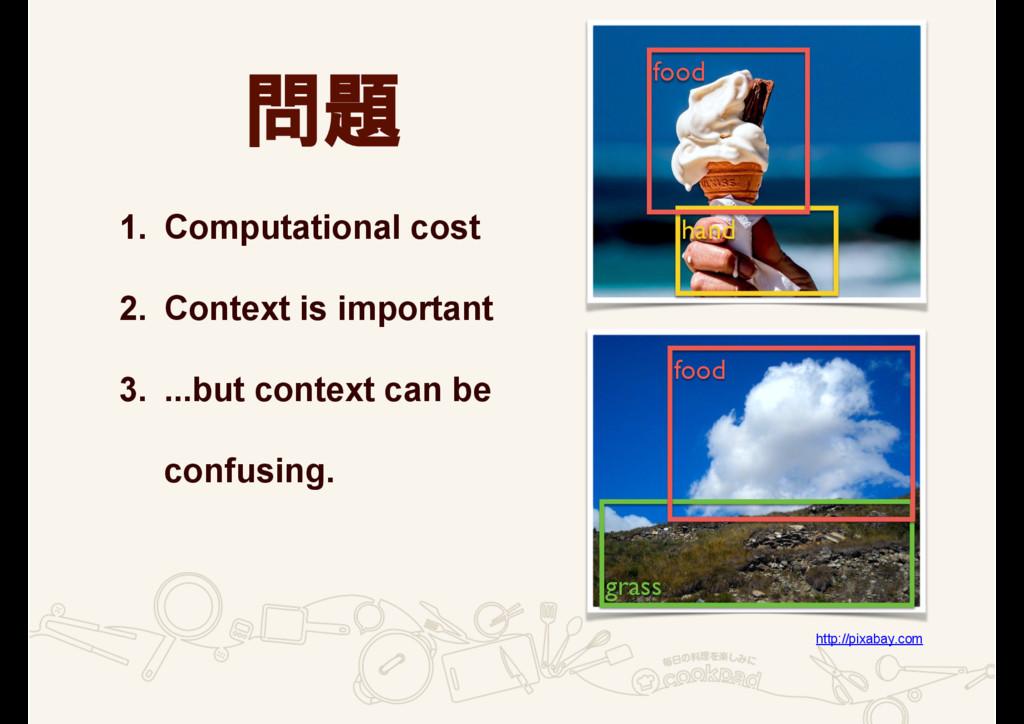問題 1. Computational cost 2. Context is importan...