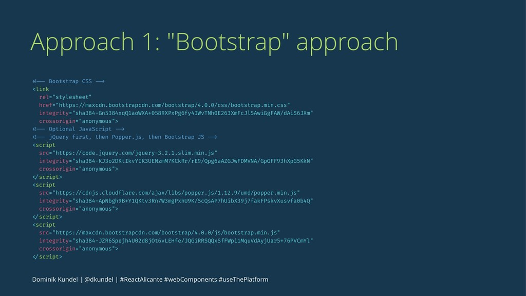 "Approach 1: ""Bootstrap"" approach <!-- Bootstrap..."