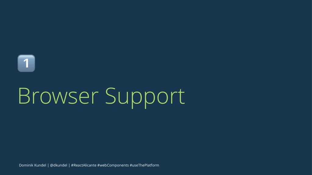 ! Browser Support Dominik Kundel   @dkundel   #...