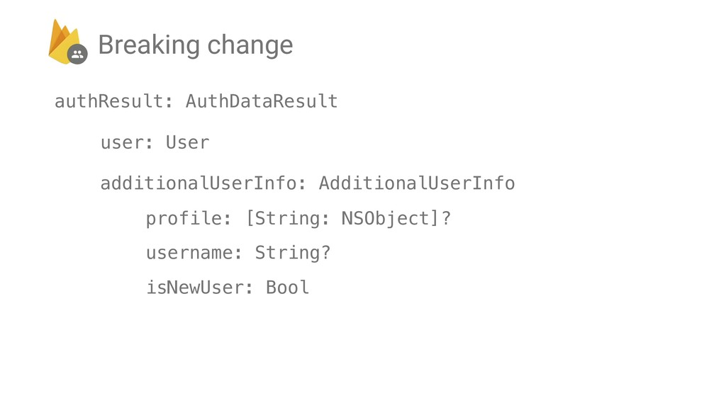 authResult: AuthDataResult user: User additiona...
