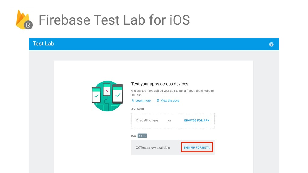 Firebase Test Lab for iOS