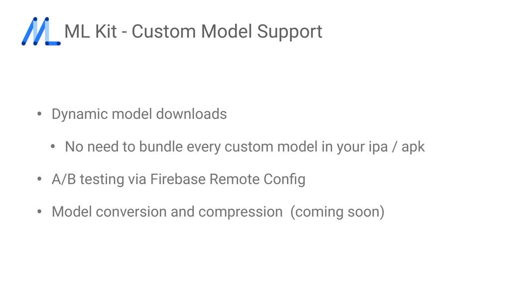 ML Kit - Custom Model Support • Dynamic model d...