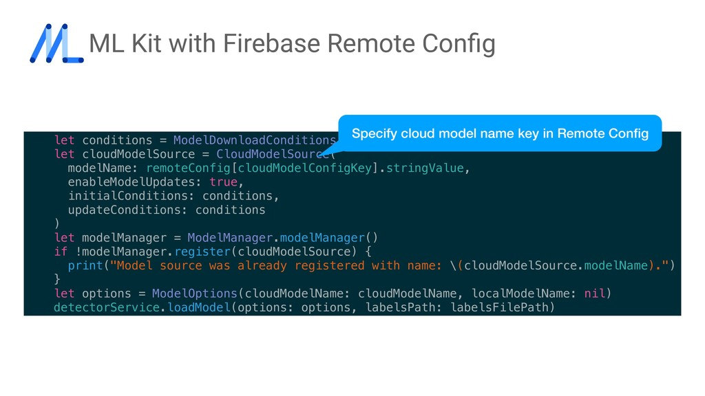 ML Kit with Firebase Remote Config let condition...