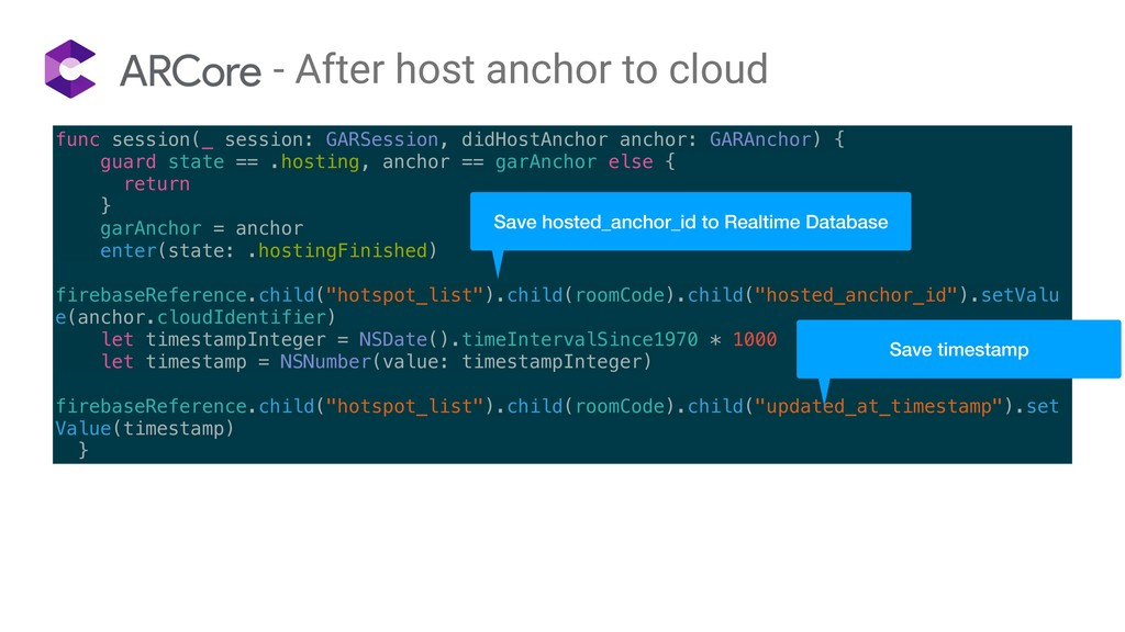 - After host anchor to cloud func session(_ ses...