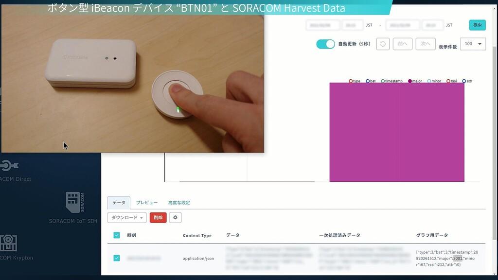 """ボタン型 iBeacon デバイス """"BTN01"""" と SORACOM Harvest Data"""