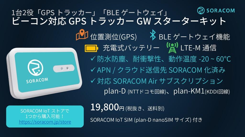 1台2役「GPS トラッカー」「BLE ゲートウェイ」 ビーコン対応 GPS トラッカー GW...