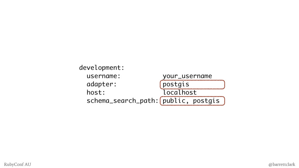development: username: your_username adapter: p...