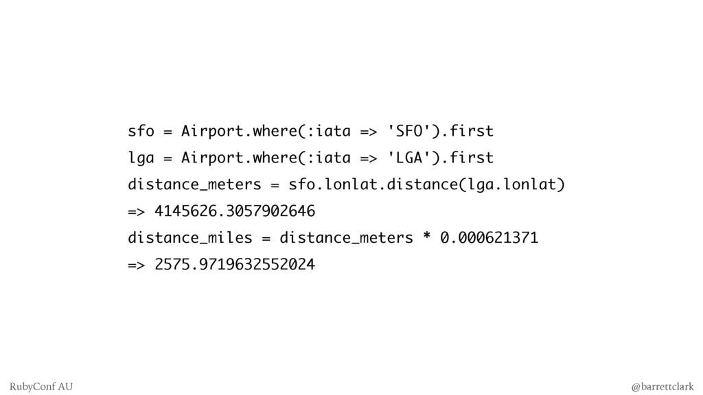 sfo = Airport.where(:iata => 'SFO').first lga =...