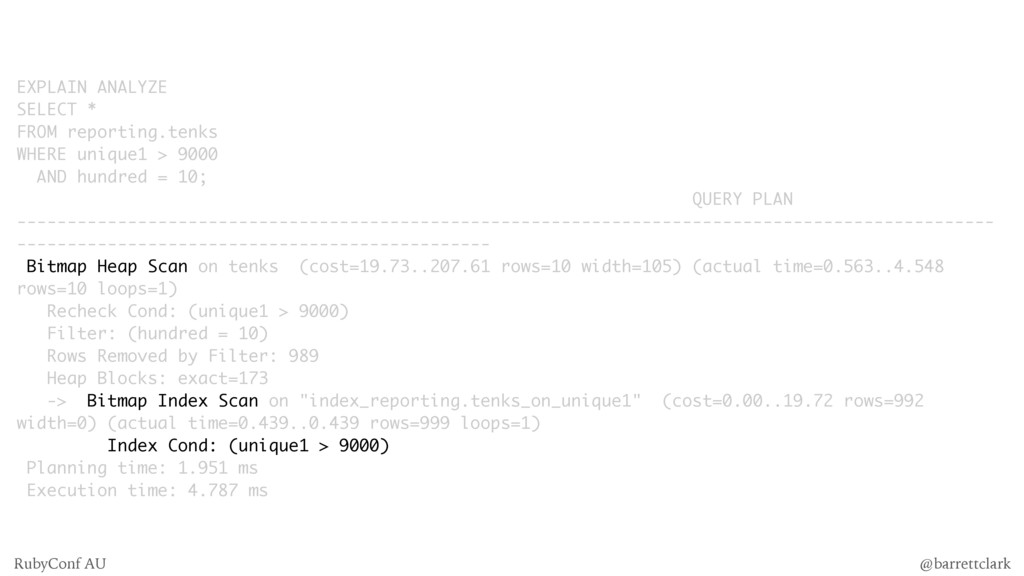 EXPLAIN ANALYZE SELECT * FROM reporting.tenks W...