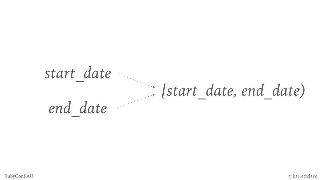 start_date end_date [start_date, end_date) @bar...