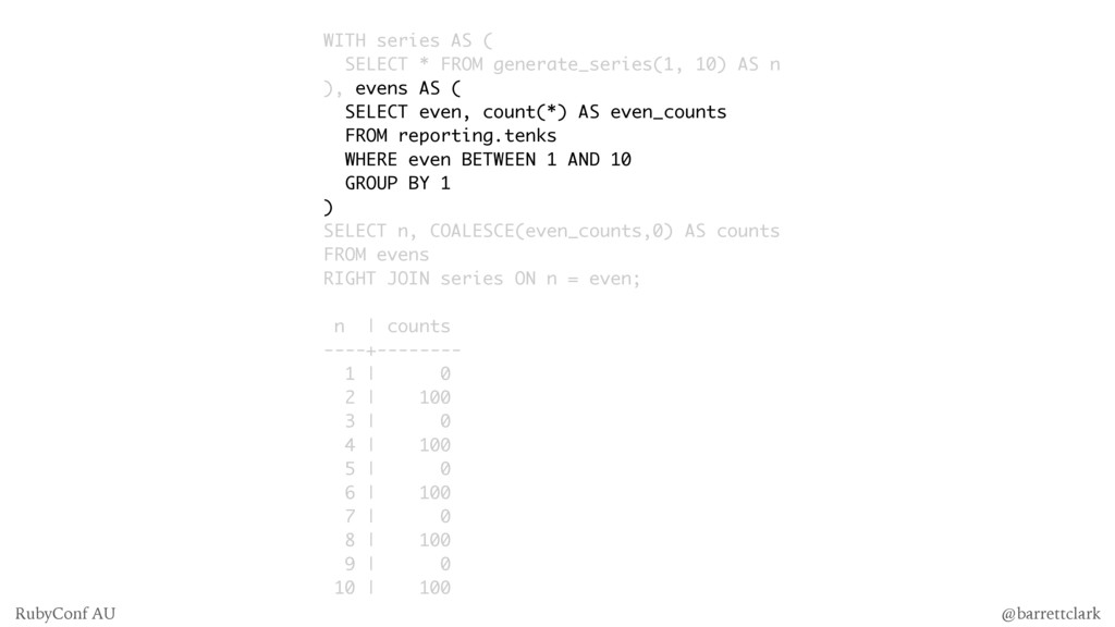 WITH series AS ( SELECT * FROM generate_series(...