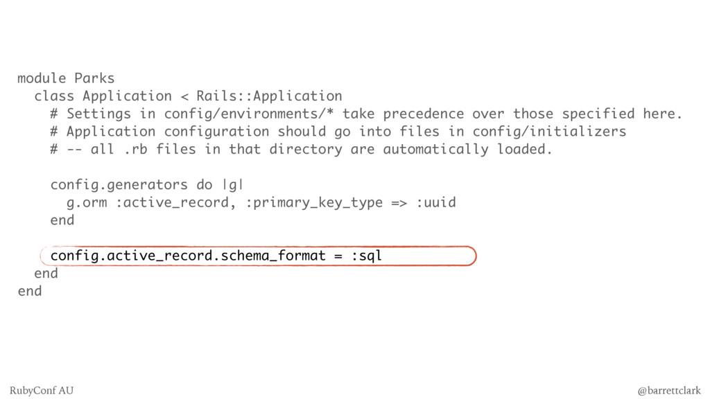 module Parks class Application < Rails::Applica...