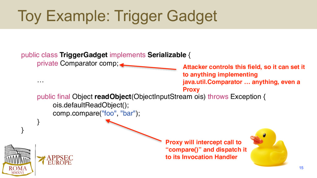 public class TriggerGadget implements Serializa...