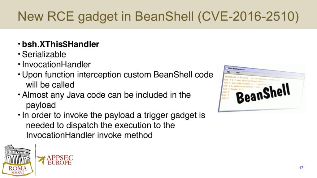 New RCE gadget in BeanShell (CVE-2016-2510) • b...
