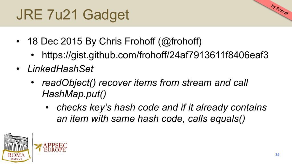 JRE 7u21 Gadget • 18 Dec 2015 By Chris Frohoff ...
