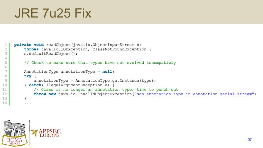 JRE 7u25 Fix 37