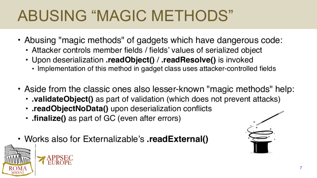 "ABUSING ""MAGIC METHODS"" • Abusing ""magic method..."