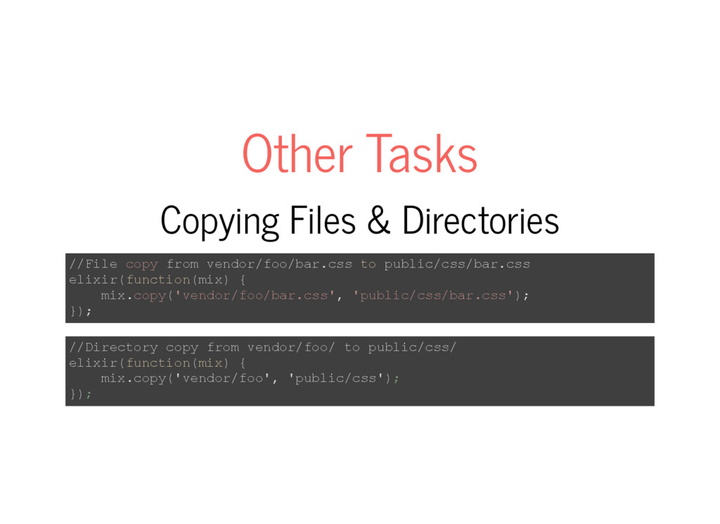 Other Tasks Copying Files & Directories //File ...