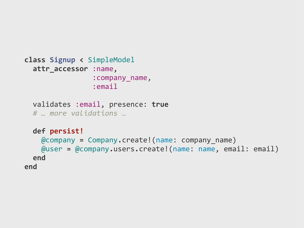 class)Signup)<)SimpleModel ))attr_accessor):nam...