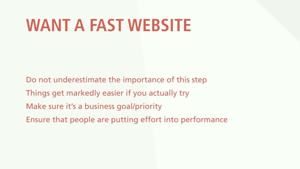 WANT A FAST WEBSITE Do not underestimate the im...
