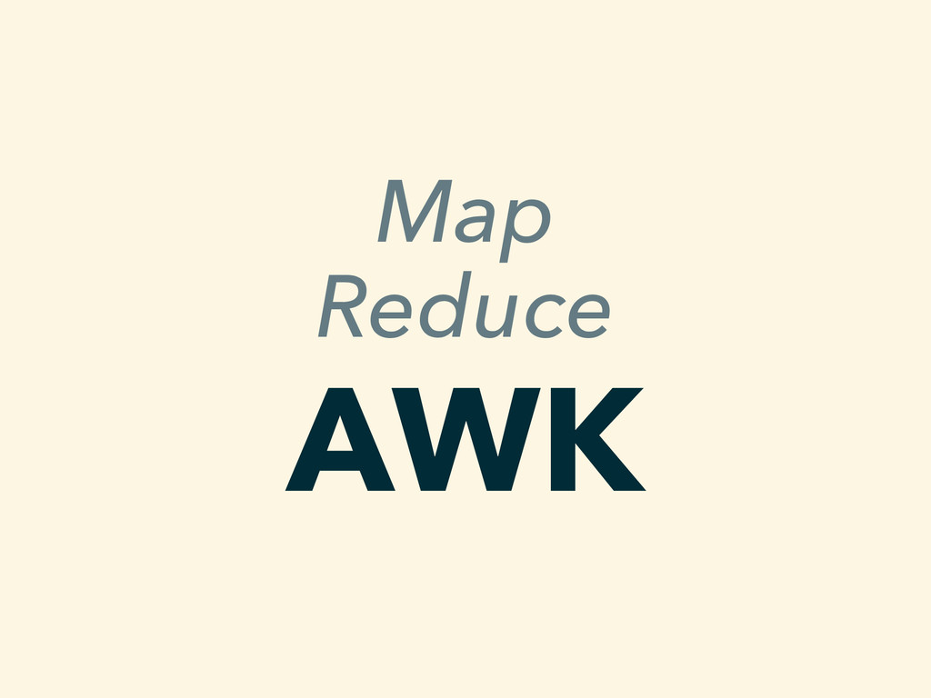 Map Reduce AWK
