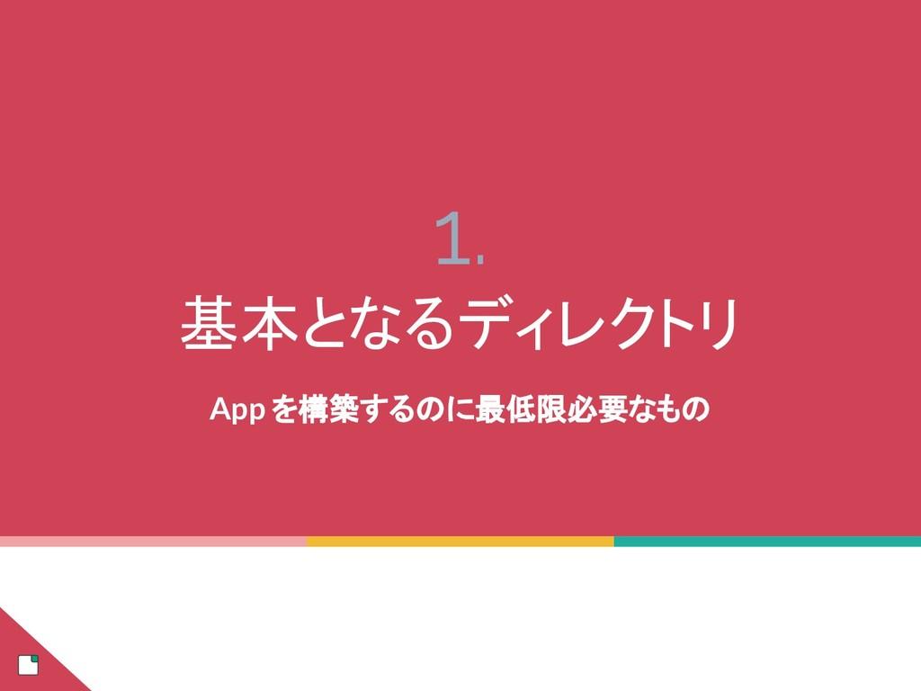 1. 基本となるディレクトリ App を構築するのに最低限必要なもの