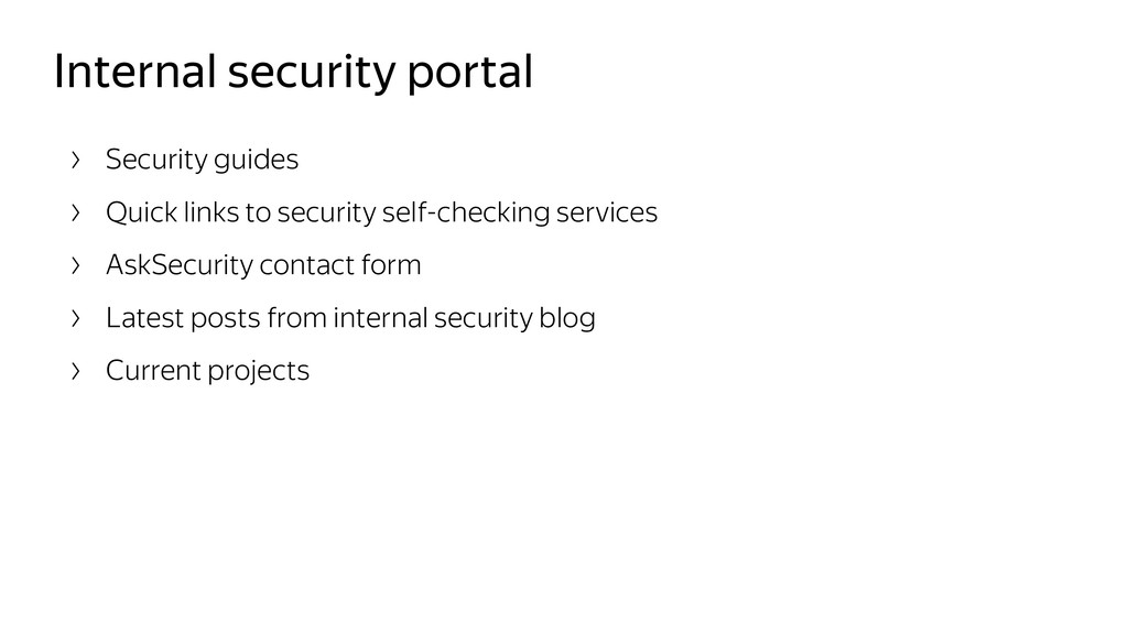 Internal security portal Security guides Quick ...