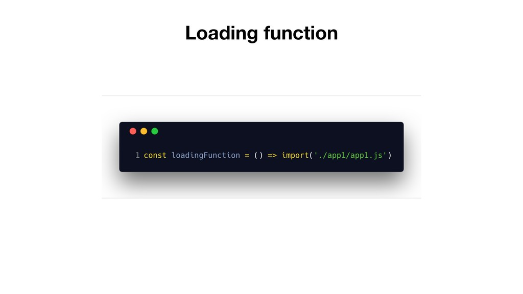 Loading function
