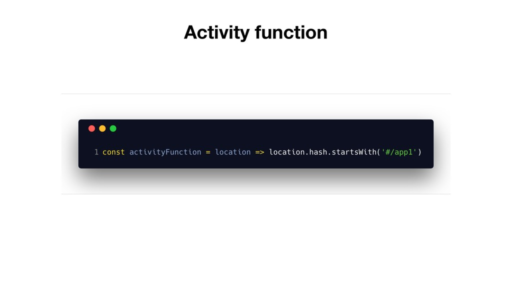 Activity function