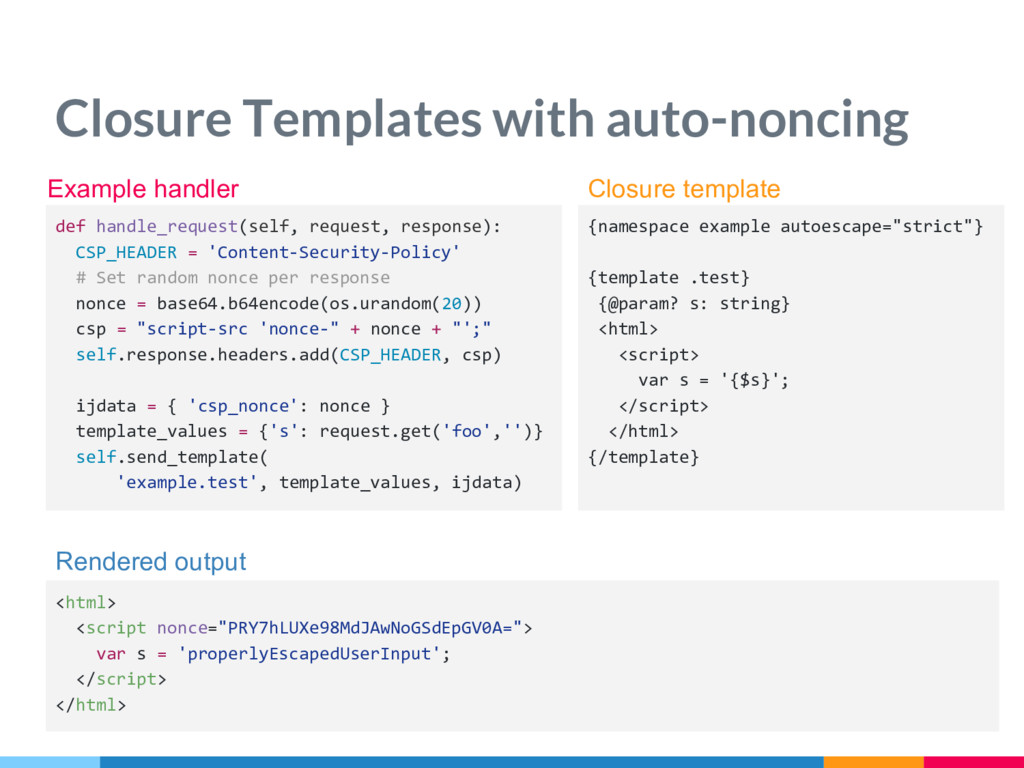 Closure Templates with auto-noncing {namespace ...