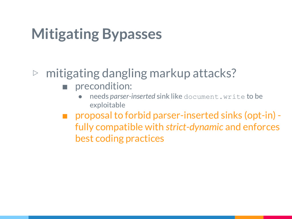 Mitigating Bypasses ▷ mitigating dangling marku...