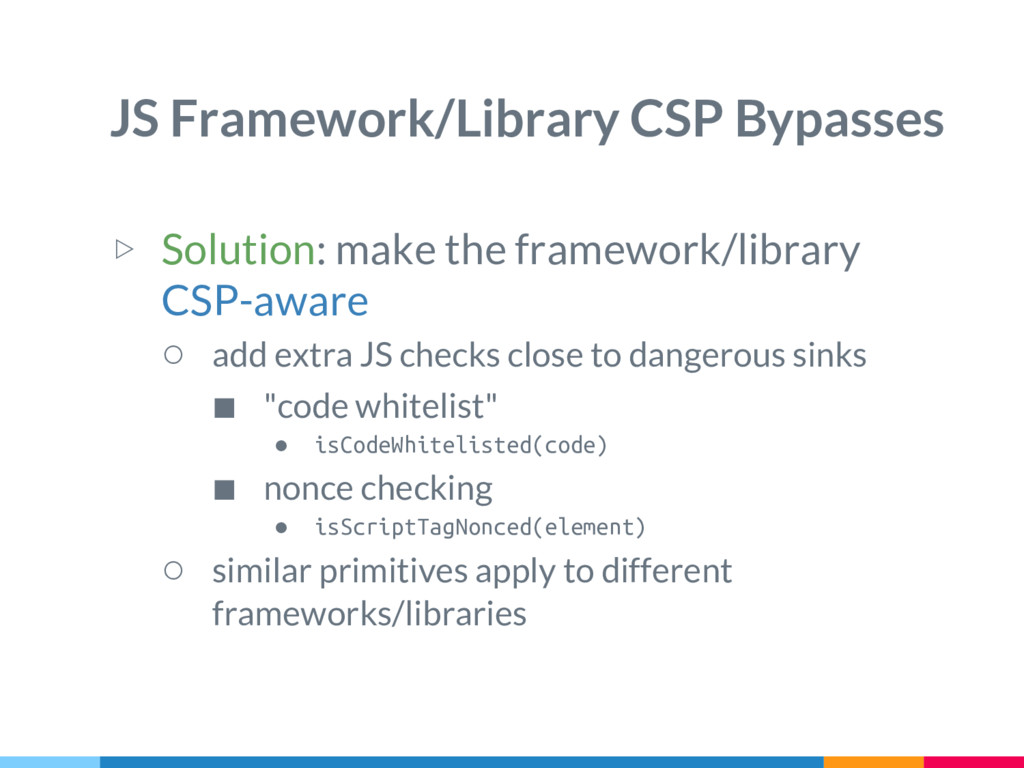 JS Framework/Library CSP Bypasses ▷ Solution: m...
